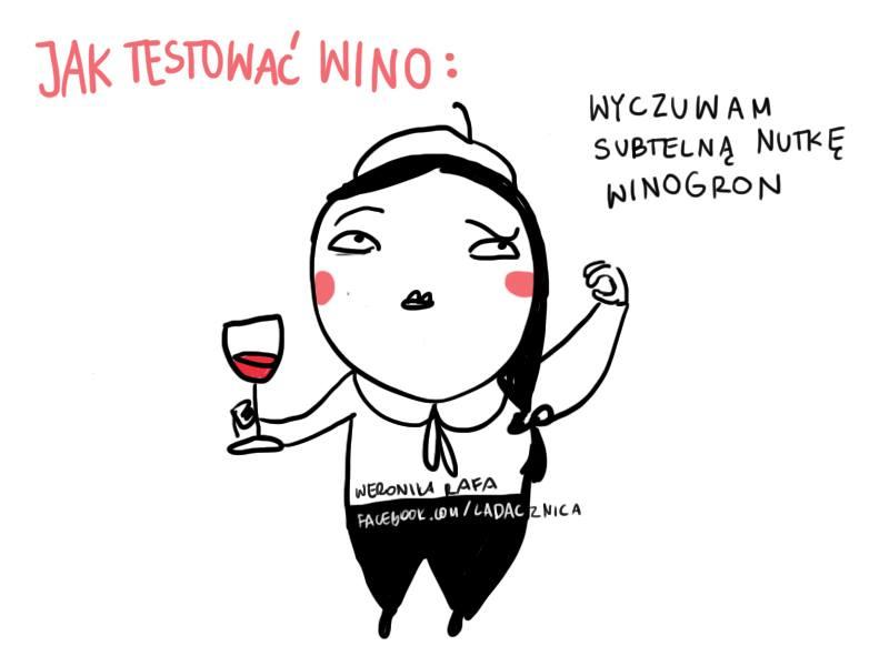 ladacznica zabawny komiks wino
