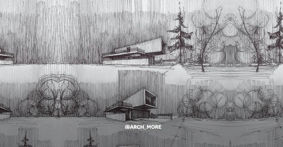 Rysunek architektura Arch_more
