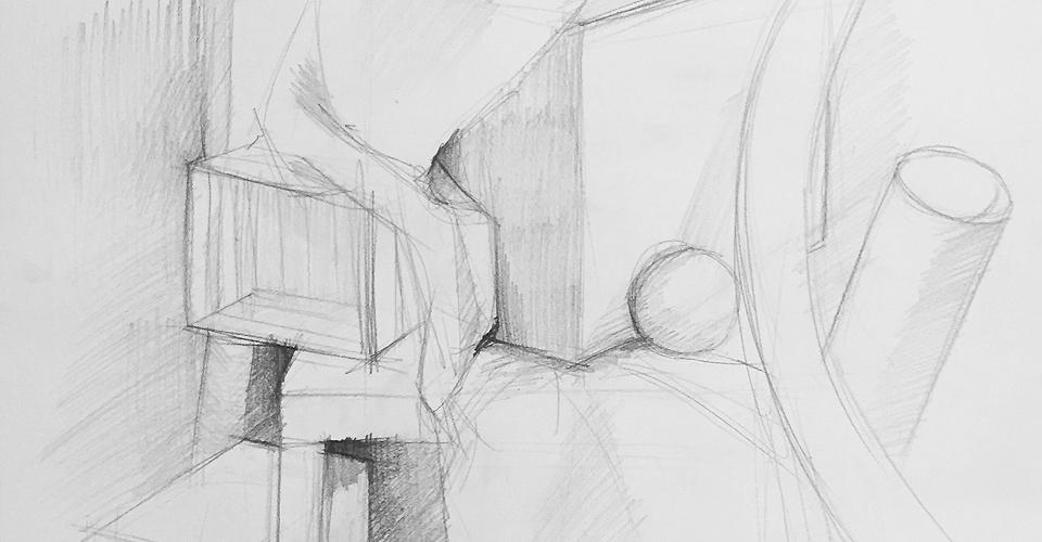 rysunek kompozycja architektura