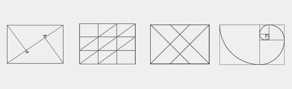 przykłady kompozycji trójpodział spirala fibonacciego