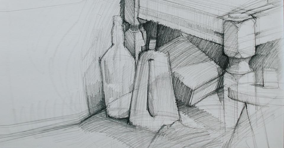kompozycja martwa natura początkujący rysownik dla początkujących