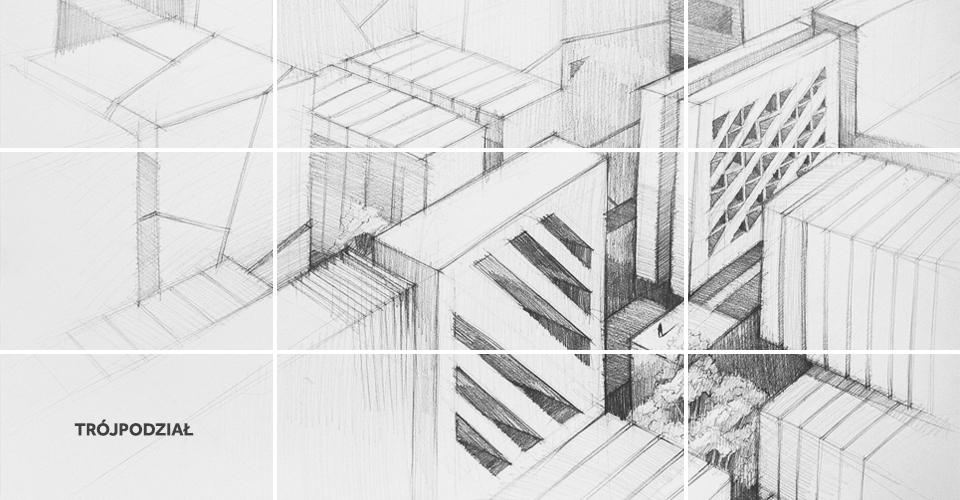 trójpodział kompozycja rysunek architektura