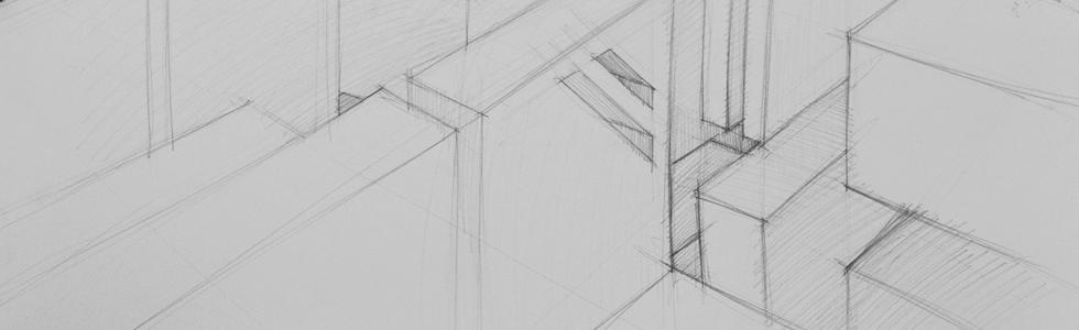linie diagonalne rysunek kompozycja architektura