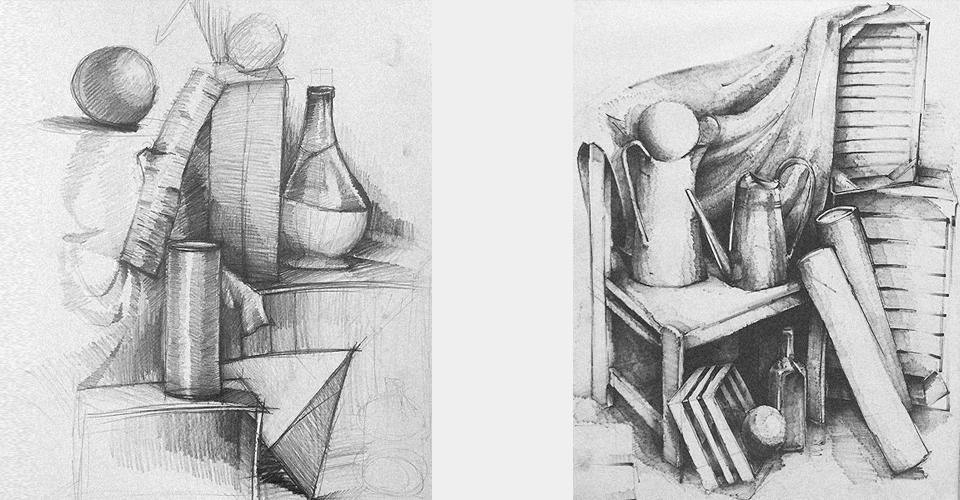 rysunek martwa natura przykłady kompozycji