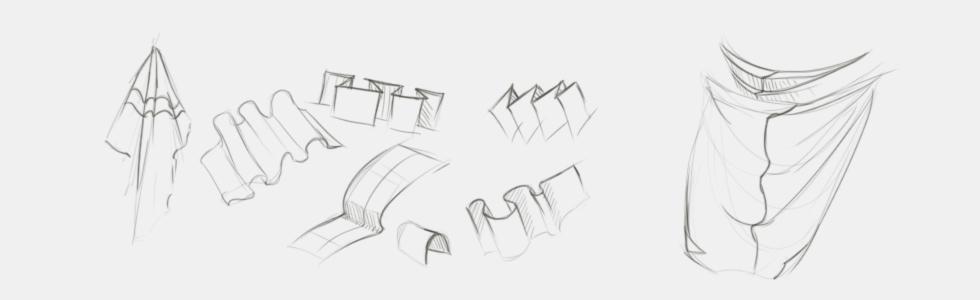 jak narysować draperię i materiał