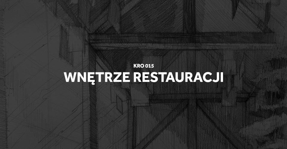 architektura wnętrz wnętrze restauracji rysunek