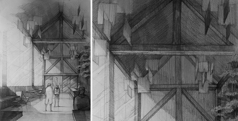 rysunek architektura wnętrz kurs rysunku online krok po kroku