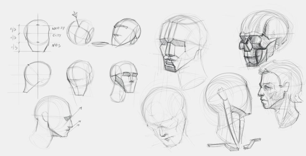 Jak narysować głowę