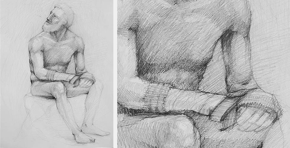 szkic postaci szkic człowieka studium ciała lekcja tutorial nauka