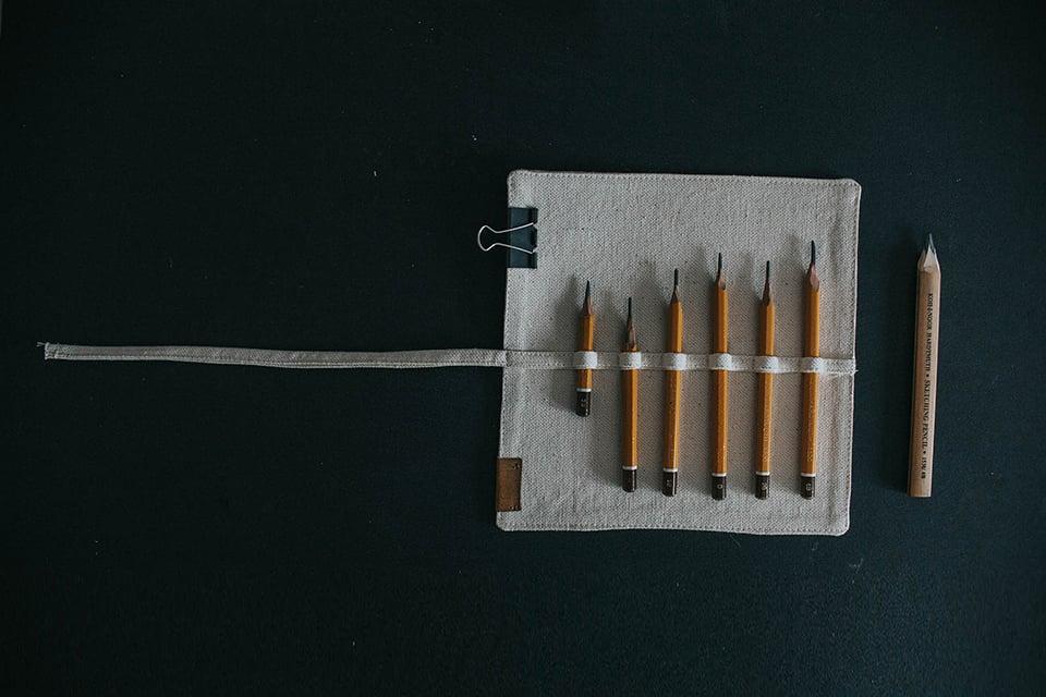 Piórnik rolowany na ołówki