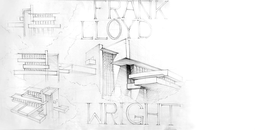 "Studium architektury - ""Dom nad wodospadem"" Frank Lloyd Wright"