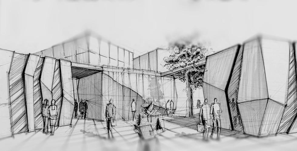 rysunek architektura projekt budynku