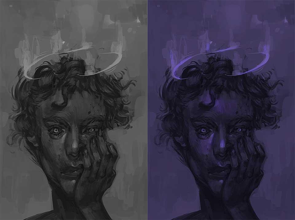 wariacje kolorystyczne digital painting